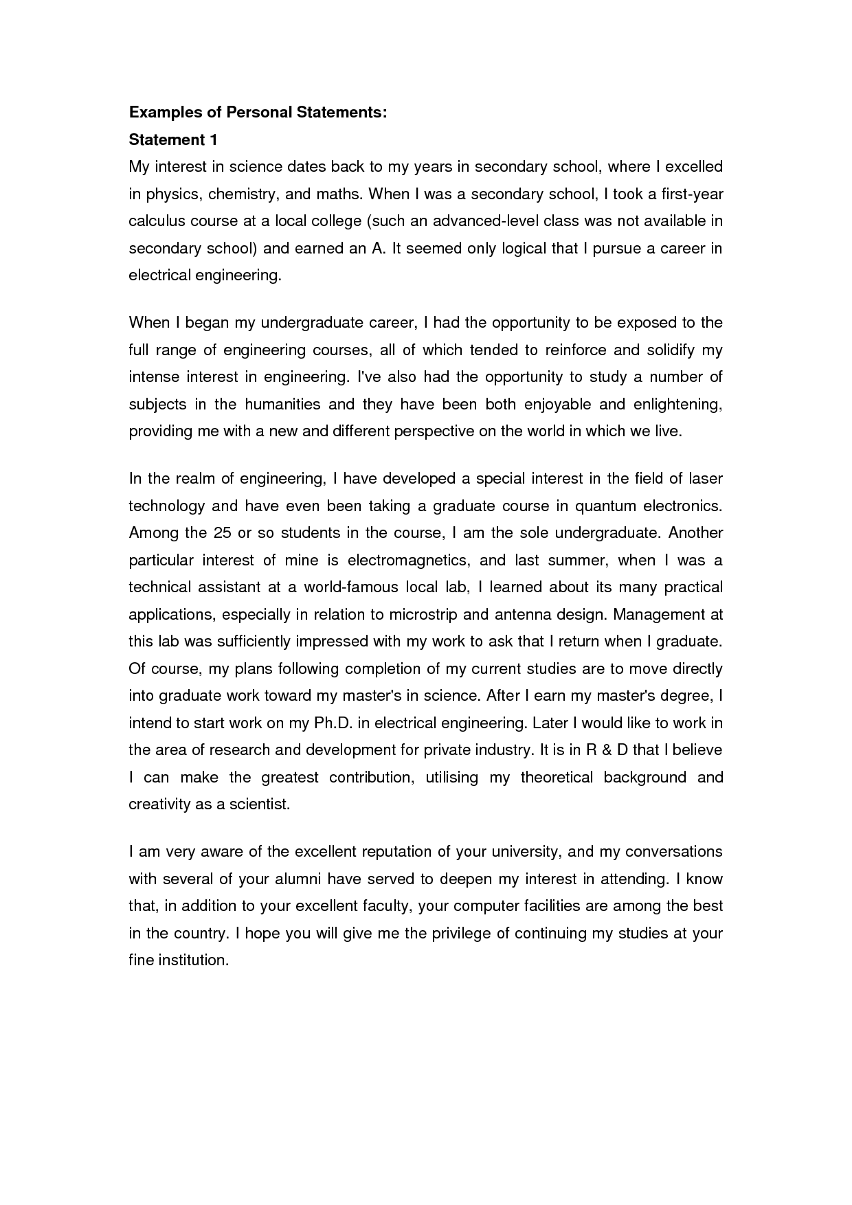 example pgce personal statement secondary