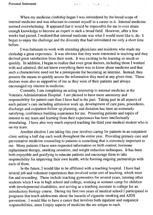 internal medicine personal statement essay Personal statement - sample personal statements anaesthesiology sample anaesthesiology #1 sample anaesthesiology #2 sample #9 sample internal medicine #10 sample internal medicine #11 sample internal medicine # 12 sample internal medicine #13 sample internal medicine #14 medicine/ pediatrics.