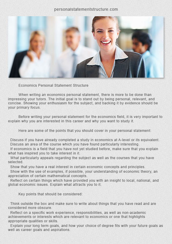 law school personal statement format economics personal statement structure
